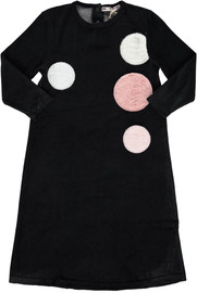 Girls Velvet With Fur Patches Nightgown