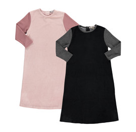 Girls Velvet With Ribbed Sleeves Nightgown