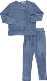Boys Velvet Double Ribbed 2Pc Pajama