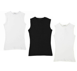 Girls Sleeveless Cotton Shell