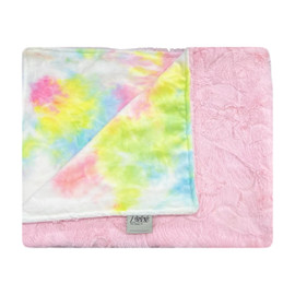 Cotton Candy Tie Dye/Luxe Light Pink Blanket