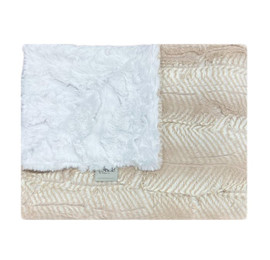 Luxe Mamba Quartz/Glacier White Blanket