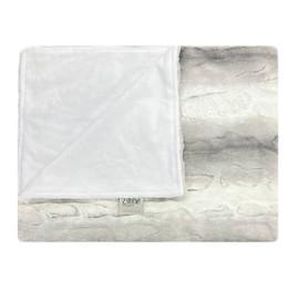 Arctic Fox/Solid White Blanket