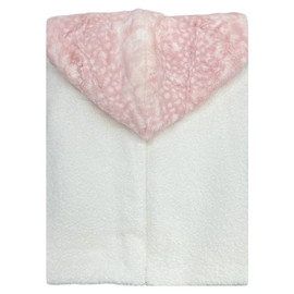 White/Fawn Rosewater Hooded Towel