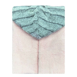 Light Pink/Iced Chinchilla Grey Hooded Towel
