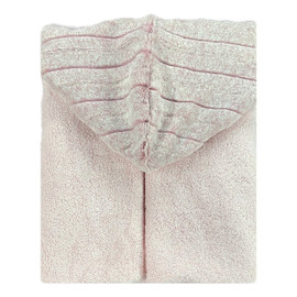 Light Pink/Iced Chinchilla Rosewater Hooded Towel