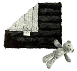 Stripe Black/Iced Chinchilla Grey Lovey
