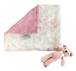 Luxe Cuddle Snowy Owl Rosewater/Luxe Rosewood Lovey