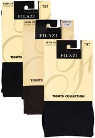 Filazi Womens Satin 70 Control Top Opaque Tights