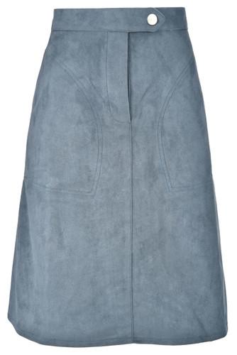 BGDK Ladies Single Button Suede Skirt