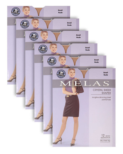Melas Crystal Sheer Shaper 6-Pack