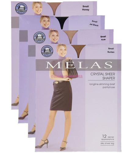 Melas Womens Sheer Shaper 12 Denier Pantyhose - AS-611