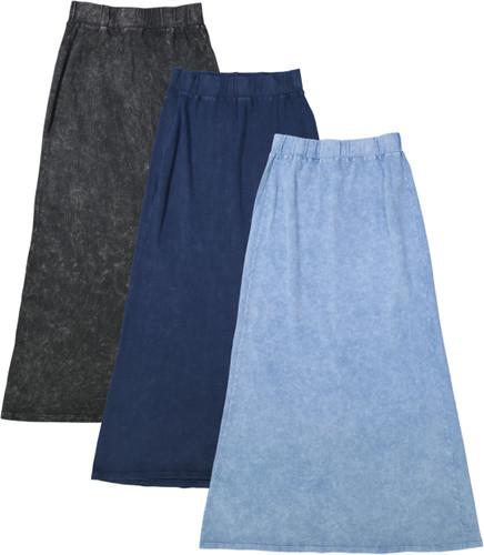 Kiki Riki Stone Wash Ladies Long Skirt