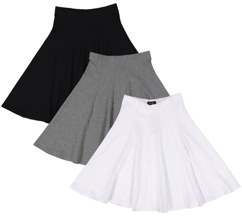 Ladies Cotton Panel Skirt