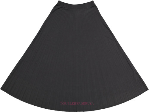 Ladies Long Pleated Skirt