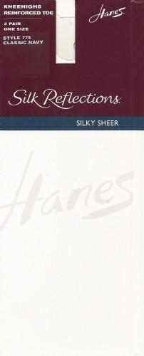 Hanes Silk Reflections Silky Sheer Reinforced Toe Knee High