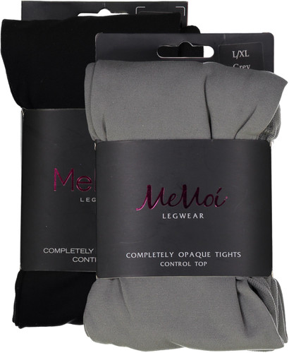 Memoi Womens Completely Opaque Control Top Tights
