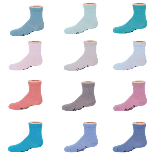 Violet Solid Color Anklet Socks