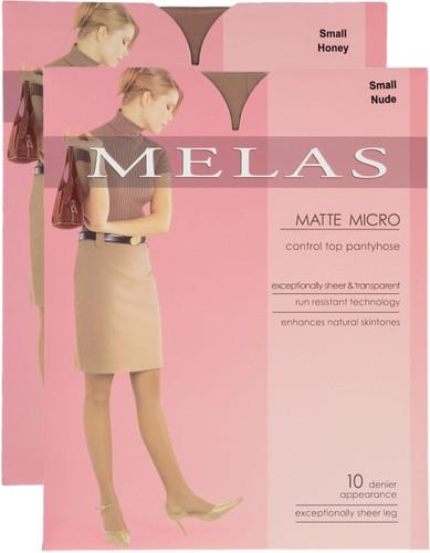 Melas Womens Matte Mirco Control Top 10 Denier Pantyhose
