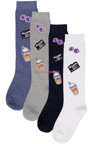 Blinq Girls Summer Patches Knee Socks