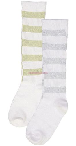 BlinQ Girls Knee Socks - Shimmer Mesh Cutout