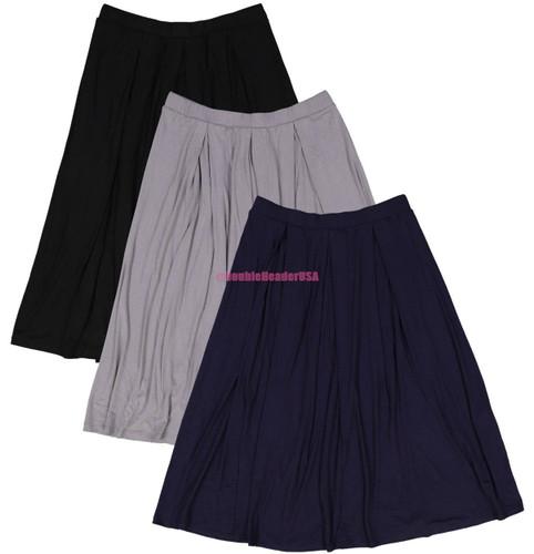 BGDK Women's Box Pleat Skirt
