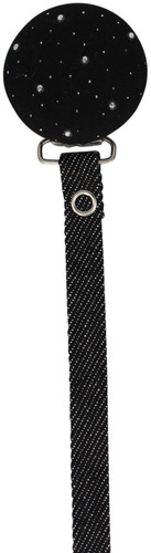 Crystal Dream Pacifier Clip - RDN19, Black