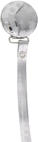 Crystal Dream Pacifier Clip - RL19-ST, Silver