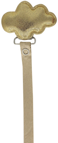 Crystal Dream Pacifier Clip - RMC19, Gold