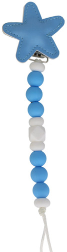 Crystal Dream Pacifier Clip - SCLS, Blue
