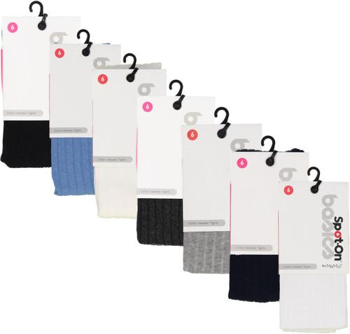 Memoi Spot-On Basics Ribbed Cotton Sweater Tights
