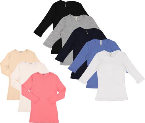 Kiki Riki Womens Ribbed 3/4 Sleeve T-shirt