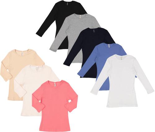 Kiki Riki Girls Ribbed 3/4 Sleeve T-shirt