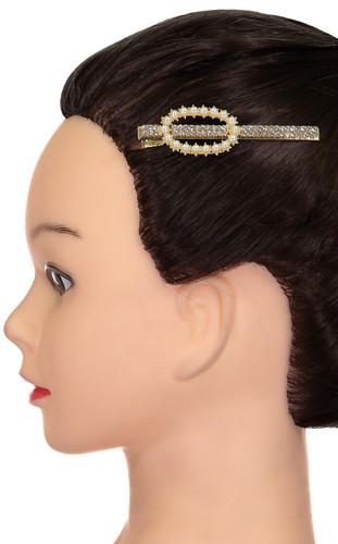 Riqki Pearl Oval Hair Clip