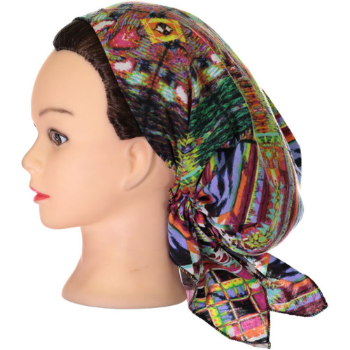 Riqki Womens Rainbow Cotton Pre-Tied Bandana