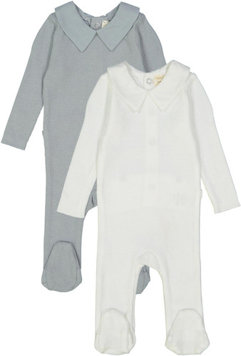 Analogie by Lil Legs Boys Girls Unisex Cotton Ribbed Collared Stretchie