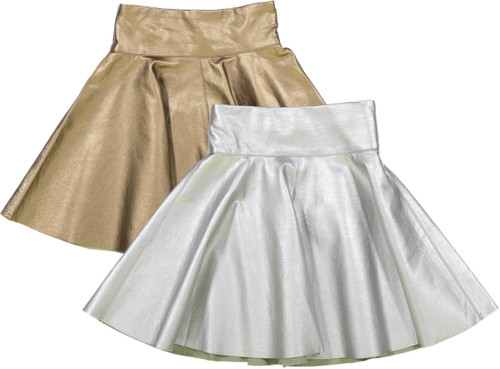 Teela Girls Metallic Circle Skirt