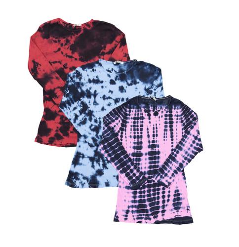 Kiki Riki Womens Dyed Ribbed T-shirt - 3/4 Sleeve