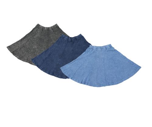 Kiki Riki Girls Ribbed Stonewash Panel Skirt