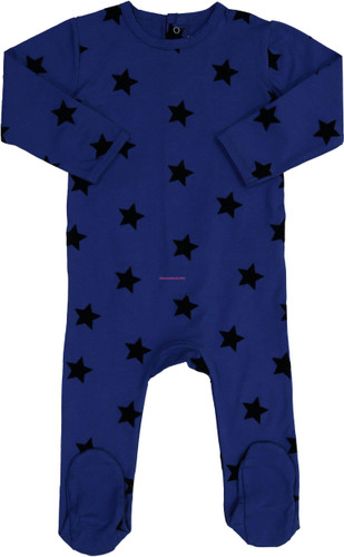 Gold Tulip Baby Boys Cotton Velvet Star Stretchie - 52W201-B