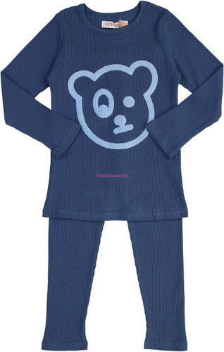 Sister Fruit Boys Ribbed Cotton Bear Pajamas - 8717