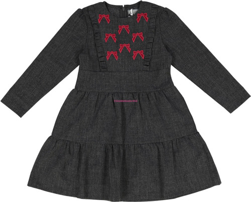 Pompomme Girls Tier Dress - 8408CH
