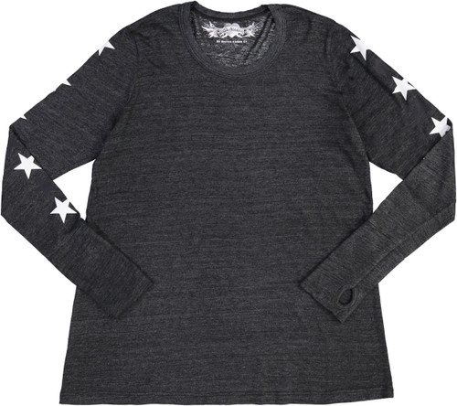 So Nikki Womens Long Sleeve 9Star T-shirt - 1067J-P714A-SLVS