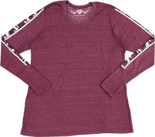 So Nikki Girls Long Sleeve Fatigue T-shirt - 1067K-P695-SLVS