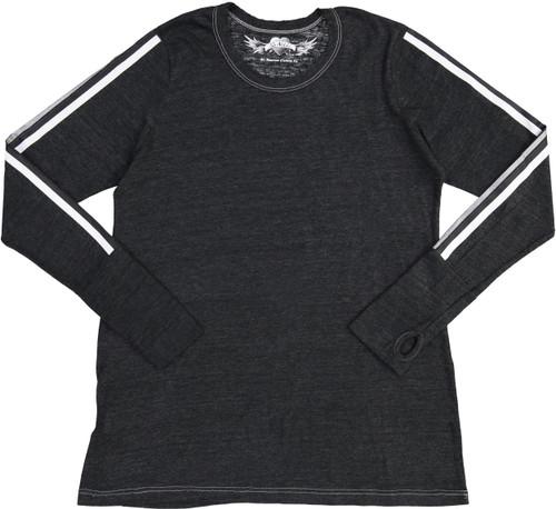 So Nikki Girls Long Sleeve 3 Stripe T-shirt - 1067K-P670-SLVS