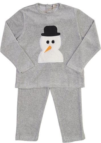 Teddy Bear Boys Velour Snowman Pajamas - CN13PB