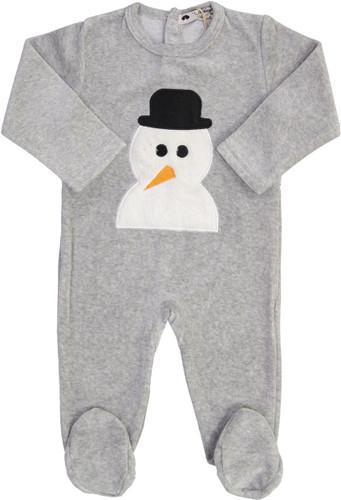 Teddy Bear Boys Velour Snowman Stretchie - CN13BB