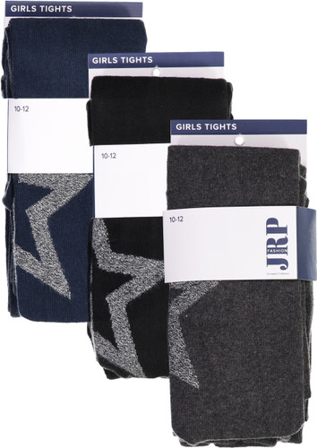 JRP Girls Outline Star Cotton Tights - TOST