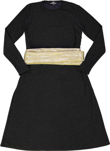 Havah Tribe Womens Shimmer Swing Dress with Belt