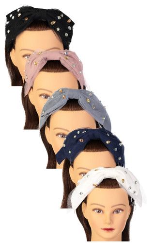 Dacee Girls Headband - C1240 - Scattered Stones Bow